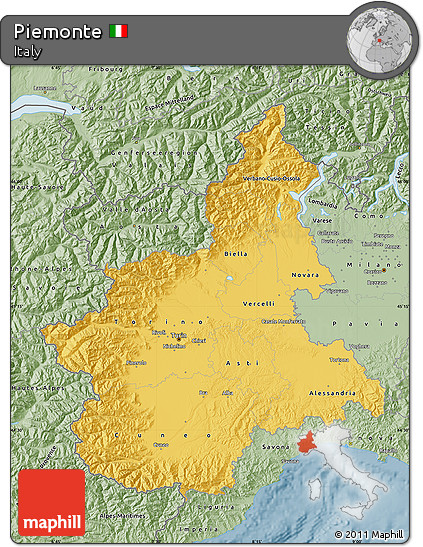 Savanna Style Map of Piemonte