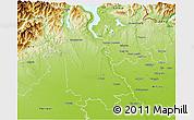 Physical 3D Map of Novara