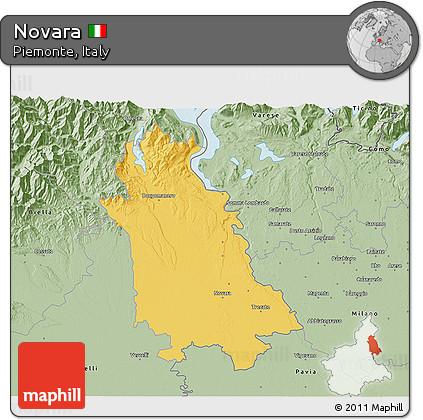 Novara Italy Map.Free Savanna Style 3d Map Of Novara