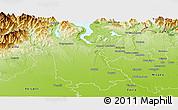 Physical Panoramic Map of Novara