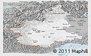 Gray Panoramic Map of Piemonte