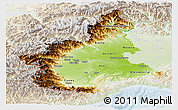 Physical Panoramic Map of Piemonte, lighten