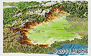 Physical Panoramic Map of Piemonte, satellite outside