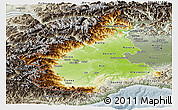 Physical Panoramic Map of Piemonte, semi-desaturated
