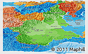 Political Shades Panoramic Map of Piemonte