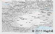 Silver Style Panoramic Map of Piemonte