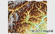 Physical 3D Map of Verbano-Cusio-Ossola