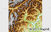 Physical Map of Verbano-Cusio-Ossola