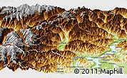 Physical Panoramic Map of Verbano-Cusio-Ossola