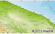 Physical Map of Bari