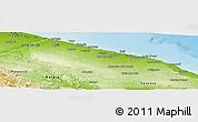 Physical Panoramic Map of Bari
