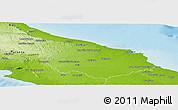 Physical Panoramic Map of Brindisi