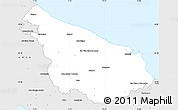 Silver Style Simple Map of Brindisi