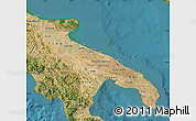 Satellite Map of Puglia