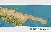 Satellite Panoramic Map of Puglia