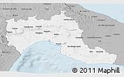 Gray 3D Map of Taranto
