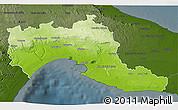 Physical 3D Map of Taranto, darken