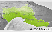 Physical 3D Map of Taranto, desaturated