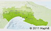 Physical 3D Map of Taranto, lighten