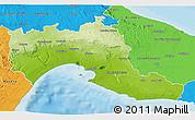 Physical 3D Map of Taranto, political outside