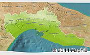 Physical 3D Map of Taranto, satellite outside
