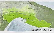 Physical 3D Map of Taranto, semi-desaturated