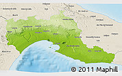 Physical 3D Map of Taranto, shaded relief outside