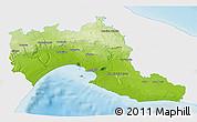 Physical 3D Map of Taranto, single color outside