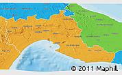 Political 3D Map of Taranto