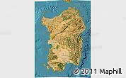 Satellite 3D Map of Sardegna