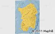 Savanna Style 3D Map of Sardegna