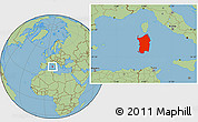 Savanna Style Location Map of Sardegna