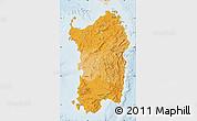 Political Shades Map of Sardegna, lighten