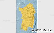 Savanna Style Map of Sardegna