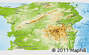 Physical Panoramic Map of Nuoro