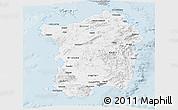 Gray Panoramic Map of Sardegna