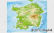 Physical Panoramic Map of Sardegna