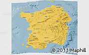 Savanna Style Panoramic Map of Sardegna