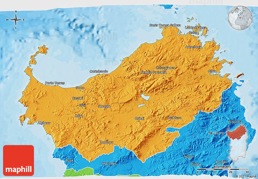 bruno manunza sassari italy map - photo#26