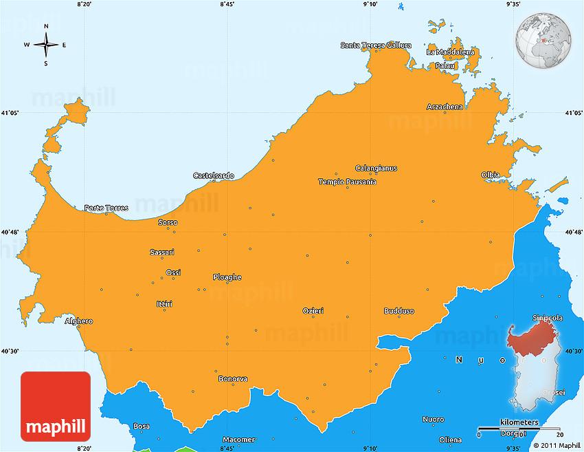 bruno manunza sassari italy map - photo#22
