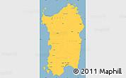 Savanna Style Simple Map of Sardegna