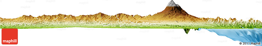 Physical Horizon Map of Catania