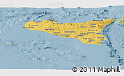 Savanna Style Panoramic Map of Sicilia