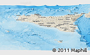 Shaded Relief Panoramic Map of Sicilia