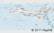 Silver Style Panoramic Map of Sicilia