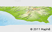 Physical Panoramic Map of Ragusa