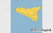 Savanna Style Simple Map of Sicilia