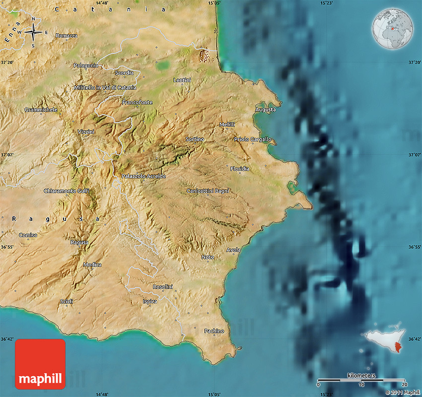 Satellite Map of Siracusa