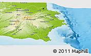Physical Panoramic Map of Siracusa