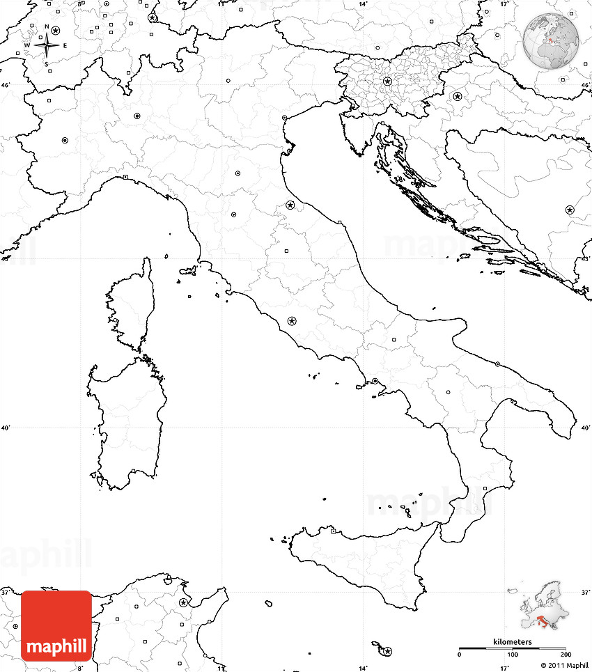 Map Of Ancient Italy Regions.Blank Simple Map Of Italy No Labels